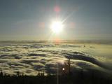 早朝 富士山5号目付近から 雲海